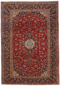 Keshan Rug 248X358 Authentic  Oriental Handknotted Dark Red/Light Brown (Wool, Persia/Iran)
