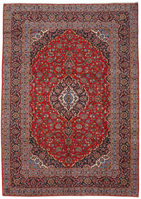 Keshan Rug 243X340 Authentic  Oriental Handknotted Dark Red/Dark Brown (Wool, Persia/Iran)
