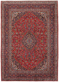 Keshan Rug 245X340 Authentic  Oriental Handknotted Dark Red/Dark Blue (Wool, Persia/Iran)