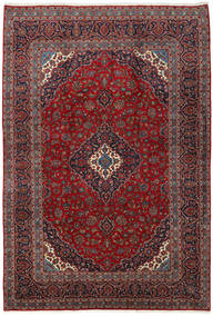 Keshan Rug 246X355 Authentic  Oriental Handknotted Dark Red/Dark Grey (Wool, Persia/Iran)