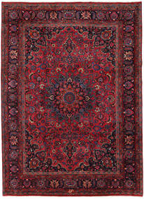 Mashad Rug 254X349 Authentic  Oriental Handknotted Dark Red Large (Wool, Persia/Iran)