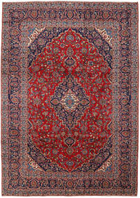 Keshan Rug 250X350 Authentic  Oriental Handknotted Dark Purple/Dark Red Large (Wool, Persia/Iran)