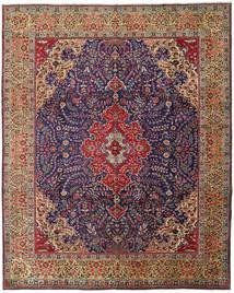 Tabriz Vloerkleed 305X379 Echt Oosters Handgeknoopt Bruin/Donkerpaars Groot (Wol, Perzië/Iran)