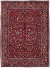 Mashad Teppe 285X387 Ekte Orientalsk Håndknyttet Mørk Rød/Lilla Stort (Ull, Persia/Iran)