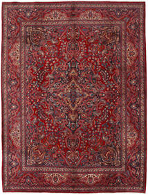 Mashad Rug 303X393 Authentic  Oriental Handknotted Dark Red/Crimson Red Large (Wool, Persia/Iran)