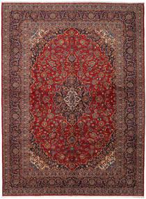 Keshan Matta 299X400 Äkta Orientalisk Handknuten Mörkröd Stor (Ull, Persien/Iran)