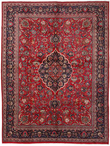 Mashad Rug 294X388 Authentic  Oriental Handknotted Dark Red/Crimson Red Large (Wool, Persia/Iran)