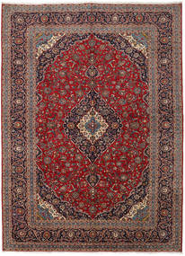 Keshan Rug 296X400 Authentic  Oriental Handknotted Dark Red/Brown Large (Wool, Persia/Iran)
