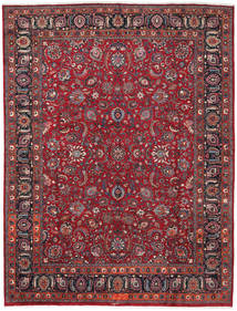 Mashad Rug 287X378 Authentic  Oriental Handknotted Crimson Red/Brown Large (Wool, Persia/Iran)