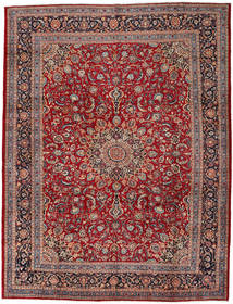 Mashad Rug 302X395 Authentic  Oriental Handknotted Dark Red/Dark Brown Large (Wool, Persia/Iran)