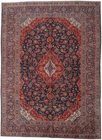 Keshan Rug 290X403 Authentic  Oriental Handknotted Dark Brown/Dark Red Large (Wool, Persia/Iran)