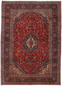 Keshan Rug 271X378 Authentic  Oriental Handknotted Dark Red/Light Brown Large (Wool, Persia/Iran)