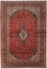 Keshan Rug 305X450 Authentic Oriental Handknotted Brown/Dark Blue Large (Wool, Persia/Iran)