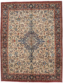 Mashad Rug 293X382 Authentic  Oriental Handknotted Light Brown/Beige Large (Wool, Persia/Iran)