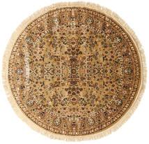 Kerman Diba - Jasnobrązowy/Beżowy Dywan Ø 250 Nowoczesny Okrągły Brązowy/Ciemnobeżowy Duży ( Turcja)
