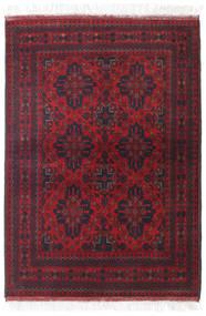 Afghan Khal Mohammadi Vloerkleed 106X150 Echt Oosters Handgeknoopt Donkerrood/Zwart (Wol, Afghanistan)