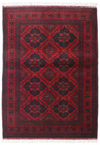 Afghan Khal Mohammadi Matta 105X144 Äkta Orientalisk Handknuten Mörkröd (Ull, Afghanistan)