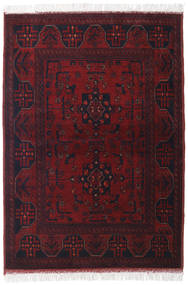 Afghan Khal Mohammadi Alfombra 104X145 Oriental Hecha A Mano Rojo Oscuro (Lana, Afganistán)
