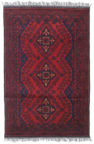 Afghan Khal Mohammadi Tæppe 80X122 Ægte Orientalsk Håndknyttet Mørkerød/Mørkelilla (Uld, Afghanistan)