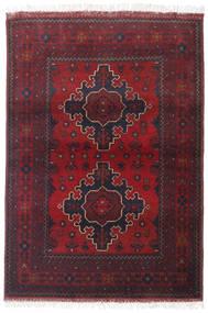 アフガン Khal Mohammadi 絨毯 100X144 オリエンタル 手織り 深紅色の/ベージュ (ウール, アフガニスタン)