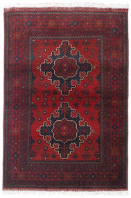 Afghan Khal Mohammadi Matta 100X144 Äkta Orientalisk Handknuten Mörkröd/Beige (Ull, Afghanistan)