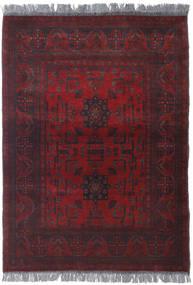 Afghan Khal Mohammadi Matta 105X142 Äkta Orientalisk Handknuten Mörkröd (Ull, Afghanistan)