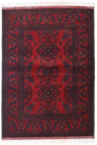 Afghan Khal Mohammadi Matta 105X146 Äkta Orientalisk Handknuten Mörkröd/Mörkgrön (Ull, Afghanistan)