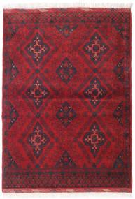 Afghan Khal Mohammadi Matta 106X143 Äkta Orientalisk Handknuten Mörkröd/Röd (Ull, Afghanistan)