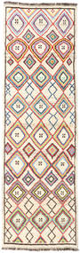 Barchi/Moroccan Berber - Afganistan Rug 91X297 Authentic Modern Handknotted Hallway Runner Beige/Light Pink (Wool, Afghanistan)