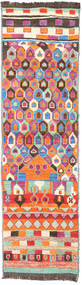 Barchi/Moroccan Berber - Afganistan Matto 88X310 Moderni Käsinsolmittu Käytävämatto Beige/Oranssi (Villa, Afganistan)