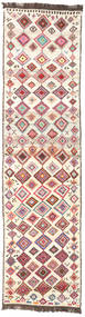 Barchi/Moroccan Berber - Afganistan Rug 85X326 Authentic Modern Handknotted Hallway Runner Beige/Light Pink (Wool, Afghanistan)