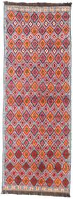 Barchi/Moroccan Berber - Afganistan Teppe 102X279 Ekte Moderne Håndknyttet Teppeløpere Rust/Lyserosa (Ull, Afghanistan)