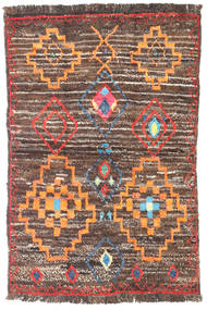 Barchi/Moroccan Berber - Afganistan Rug 89X137 Authentic  Modern Handknotted Light Brown/Brown (Wool, Afghanistan)