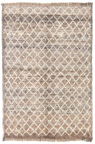 Barchi/Moroccan Berber - Afganistan Rug 86X127 Authentic  Modern Handknotted Light Grey/Light Brown (Wool, Afghanistan)