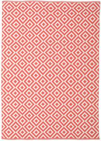 Torun - Coral/Neutral Tapis 140X200 Moderne Tissé À La Main Orange/Rose Clair/Beige (Coton, Inde)