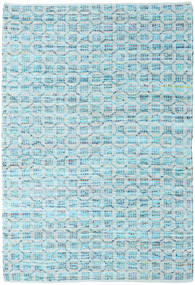 Elna - Bright_Blue Rug 140X200 Authentic  Modern Handwoven Light Blue/Turquoise Blue (Cotton, India)