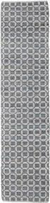 Elna - Schwarz/Grau Teppich  80X350 Echter Moderner Handgewebter Läufer Hellgrau/Dunkelgrau (Baumwolle, Indien)
