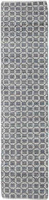 Elna - Grey Rug 80X250 Authentic  Modern Handwoven Hallway Runner  Light Grey/Purple (Cotton, India)