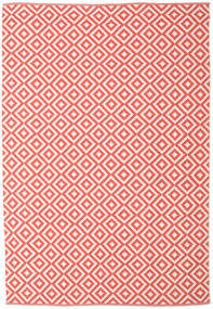 Torun - Coral/Neutral Rug 200X300 Authentic  Modern Handwoven Crimson Red/Light Pink/Beige (Cotton, India)