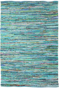 Ronja - Green Rug 200X300 Authentic  Modern Handwoven Turquoise Blue/Light Blue (Cotton, India)