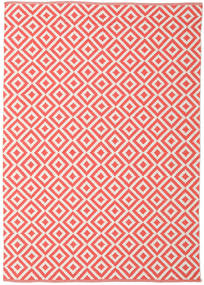Torun - Coral/Neutral Rug 170X240 Authentic Modern Handwoven Crimson Red/Light Pink (Cotton, India)