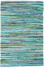 Ronja - Green Rug 170X240 Authentic  Modern Handwoven Turquoise Blue/Light Blue (Cotton, India)