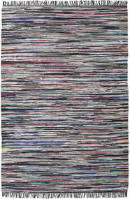 Cottolina - Black/Multi Rug 200X300 Authentic  Modern Handwoven Dark Grey/Light Grey (Cotton, India)