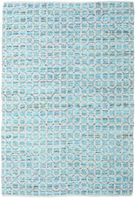 Elna - Bright_Blue Rug 200X300 Authentic  Modern Handwoven Light Blue/Turquoise Blue (Cotton, India)