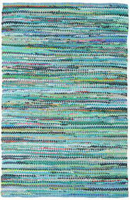 Ronja - Green Rug 140X200 Authentic  Modern Handwoven Turquoise Blue/Light Blue (Cotton, India)
