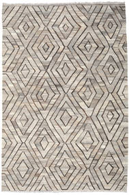 Kilim Ariana Rug 206X309 Authentic  Modern Handwoven Light Grey/Light Brown (Wool, Afghanistan)