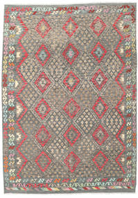 Kilim Afghan Old Style Rug 205X292 Authentic  Oriental Handwoven Light Grey/Dark Grey (Wool, Afghanistan)