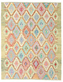 Kilim Afghan Old Style Rug 180X232 Authentic  Oriental Handwoven Dark Beige/Light Pink (Wool, Afghanistan)