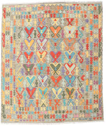 Kilim Afghan Old Style Rug 248X294 Authentic  Oriental Handwoven Light Grey/Dark Beige (Wool, Afghanistan)