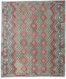 Kelim Afghan Old Style Tæppe 252X298 Ægte Orientalsk Håndvævet Mørkegrå/Lysegrå Stort (Uld, Afghanistan)